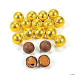 Yellow Caramel Chocolate Balls