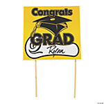 "Yellow ""Congrats Grad"" Yard Signs"