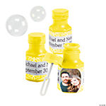 Yellow Custom Photo Hexagon Bubble Bottles