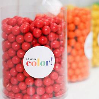 Rainbow Candy Buffet Printables