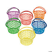 Bright Round Easter Baskets