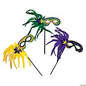 Feather Mardi Gras Masks