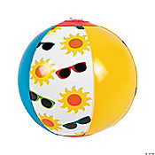 Inflatable Summer Print Beach Balls