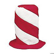 Peppermint Swirl Stovepipe Hat