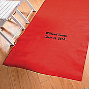 Personalized Red Graduation Aisle Runner