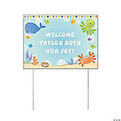 Personalized Under the Sea Boy Yard Sign