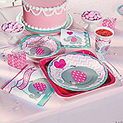 Pink Elephant First Birthday Party Supplies