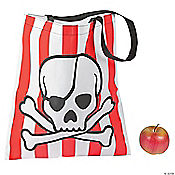 Pirate Striped Tote Bags