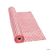 Red Gingham Tablecloth Roll