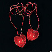 Valentine Necklaces with Light-Up Heart