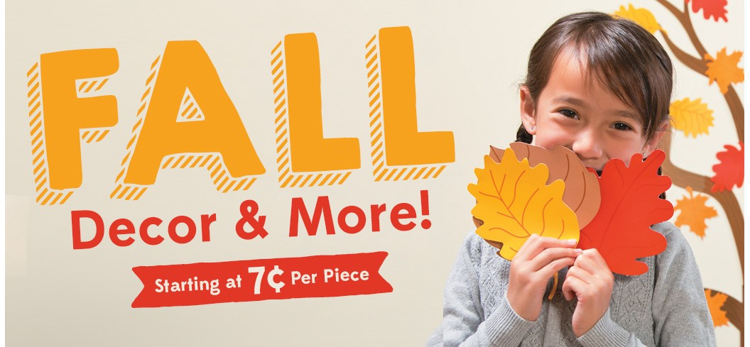 Fall Decor and More - Starting at 7 cents per piece