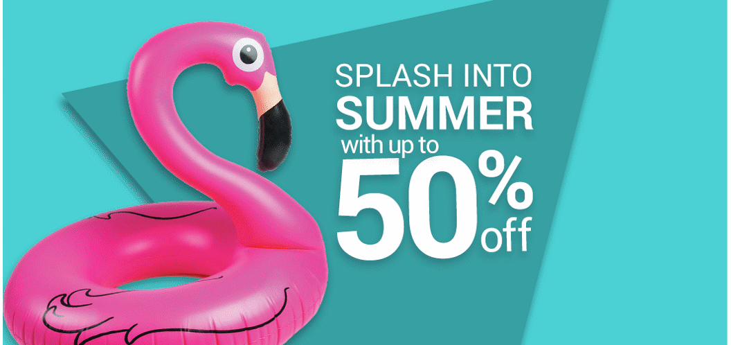 Splash in to summer with up to 50% off