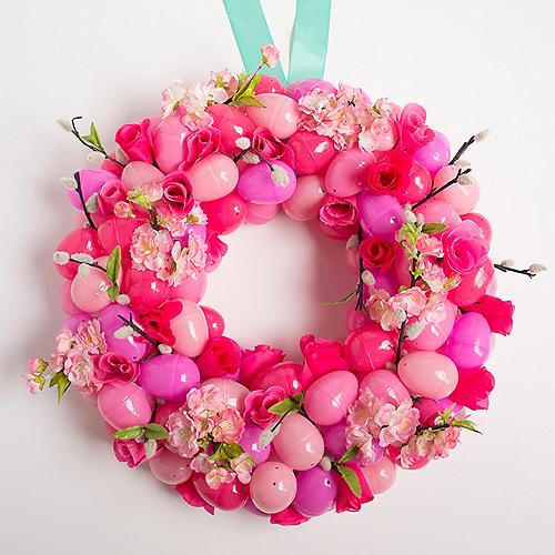 DIY Ombre Easter Egg Wreath