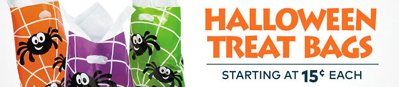 Halloween Treat Bags Starting at 15¢ each