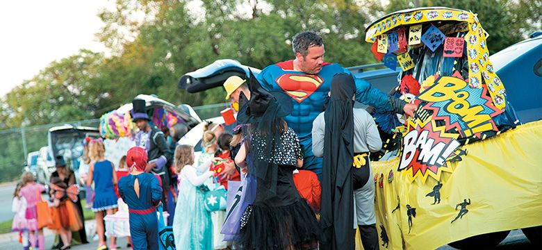 provide a safe fun trick or treating experience by participating in trunk or treat events for kids great for churches schools and rural areas where