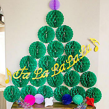 Honeycomb Ball Christmas Tree
