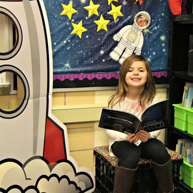 Space Themed Library Nook