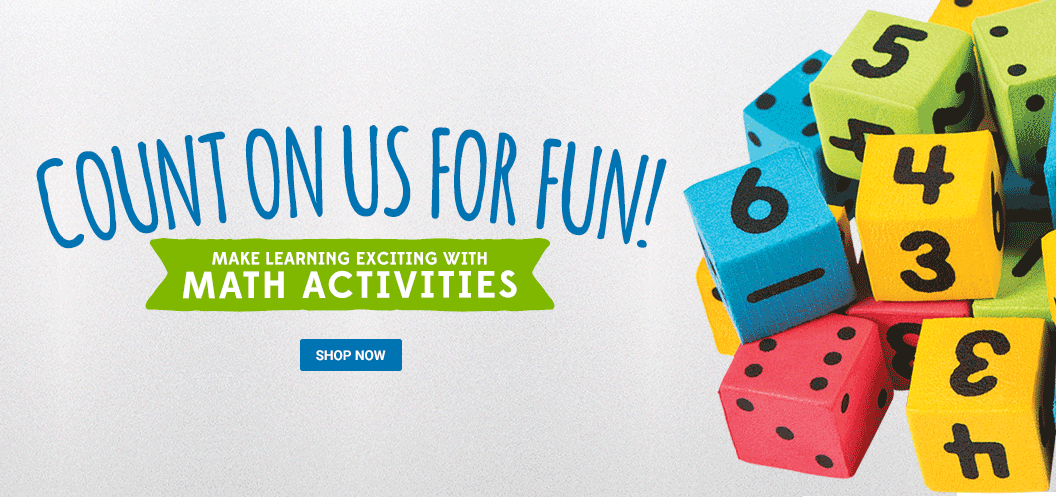 Count on us for fun! Make learning fun with math activities