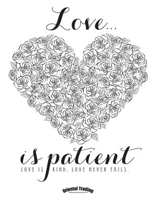 Love Is Patient Coloring Page Love Is Patient Coloring Page ...