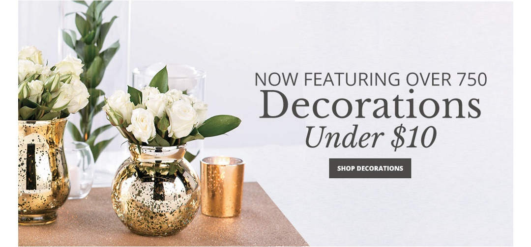 Now Featuring Over 750+ Decorations Under $10