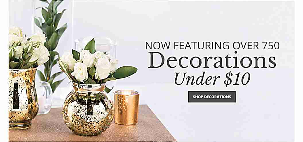 Now Featuring 750 Decorations Under $10