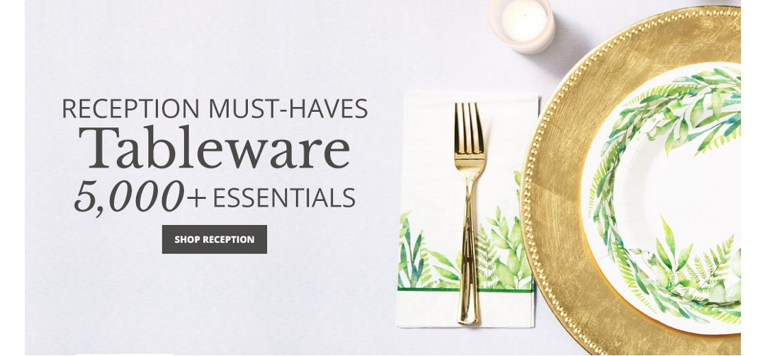 5000+ Tableware and Reception Essentials