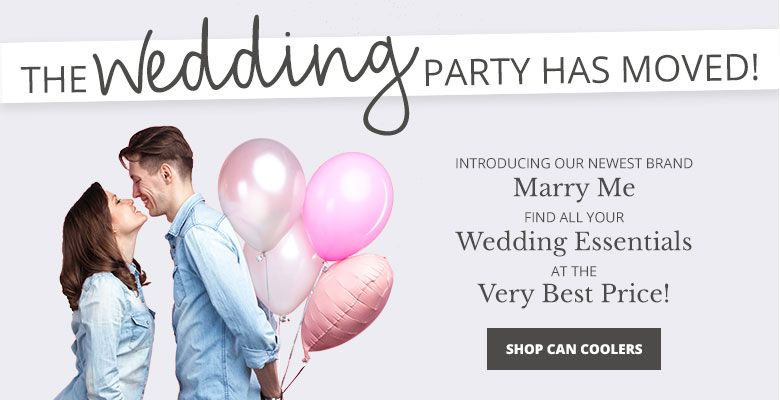 Shop Can Coolers - Visit our new wedding website Marry Me. Find all your wedding essentials at the very best prices.