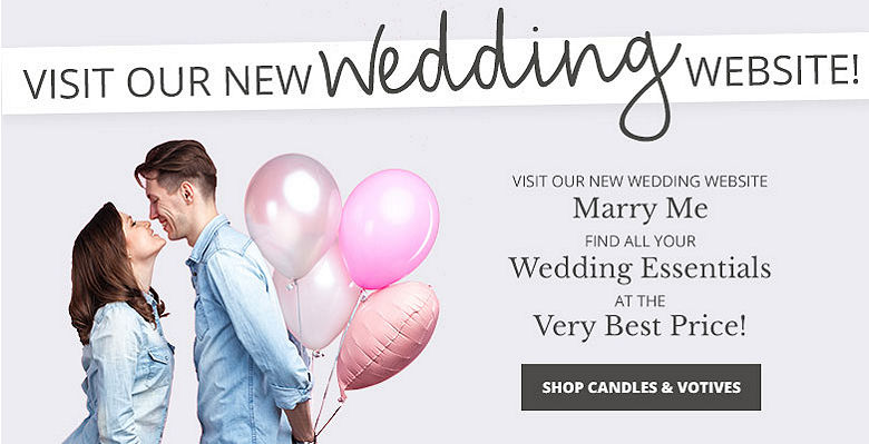 Shop Candles and Votives - Visit our new wedding website Marry Me. Find all your wedding essentials at the very best prices.