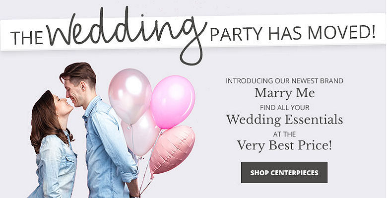 Shop Centerpieces - Visit our new wedding website Marry Me. Find all your wedding essentials at the very best prices.