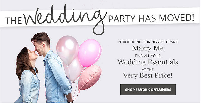 Shop Decorations - Visit our new wedding website Marry Me. Find all your wedding essentials at the very best prices.