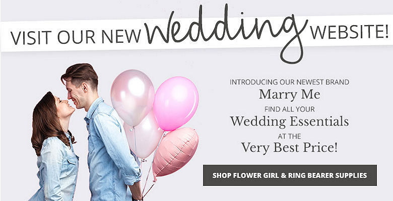 Shop Flower Girl and Ring Bear Supplies - Visit our new wedding website Marry Me. Find all your wedding essentials at the very best prices.