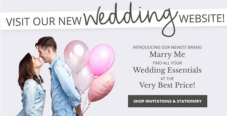 Shop Invitations and Stationery - Visit our new wedding website Marry Me. Find all your wedding essentials at the very best prices.