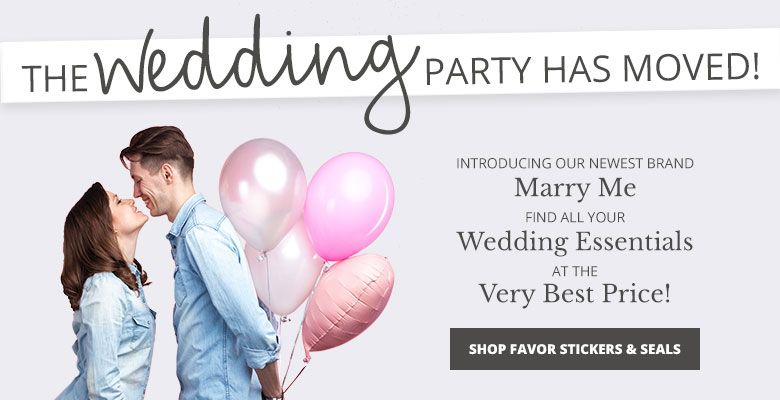 Shop Favor Stickers and Seals - Visit our new wedding website Marry Me. Find all your wedding essentials at the very best prices.