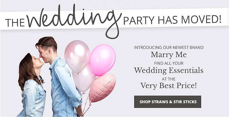 Shop straws and stir sticks - Visit our new wedding website Marry Me. Find all your wedding essentials at the very best prices.