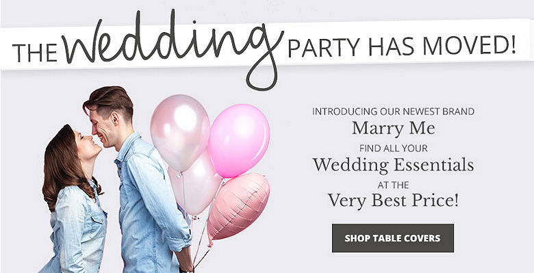 Shop Table Covers - Visit our new wedding website Marry Me. Find all your wedding essentials at the very best prices.