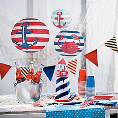 Nautical decor party supplies oriental trading for Where can i buy nautical decor