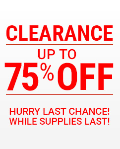 Clearance up to 75% off!