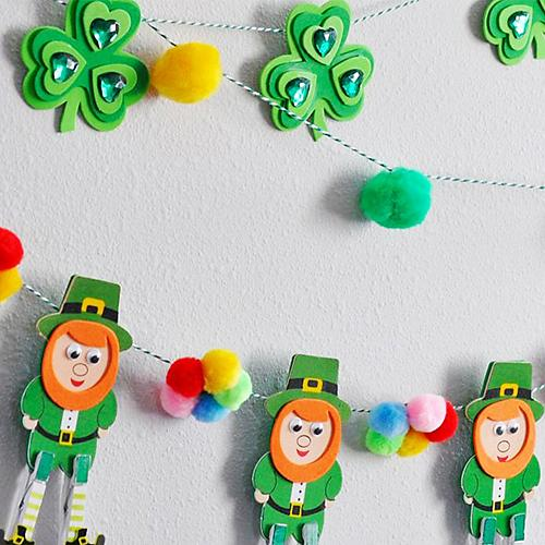 Easy St. Patrick's Day Garland Craft