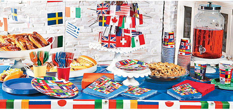 Winter summer games party supplies usa party supplies for International party decor