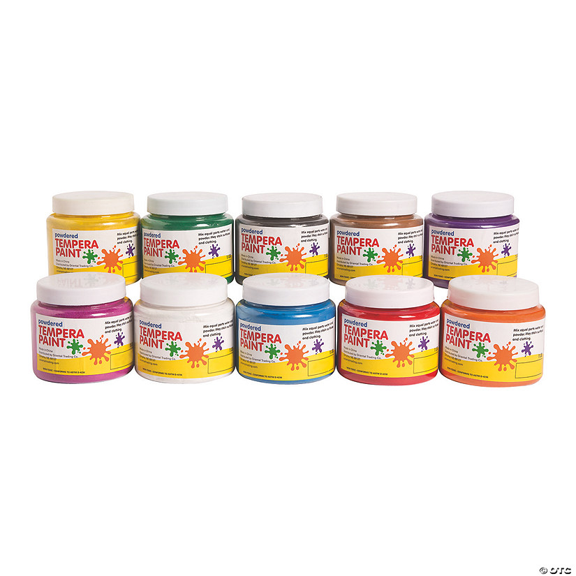 10-Pc. Powdered Tempera Paint Set