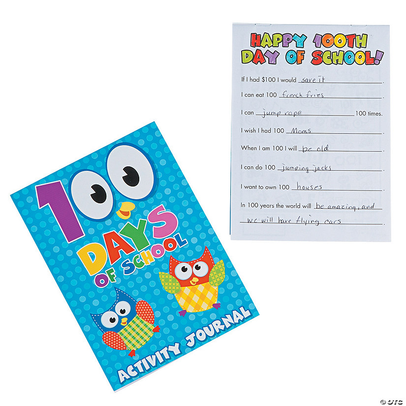 100th Day of School Activity Journals