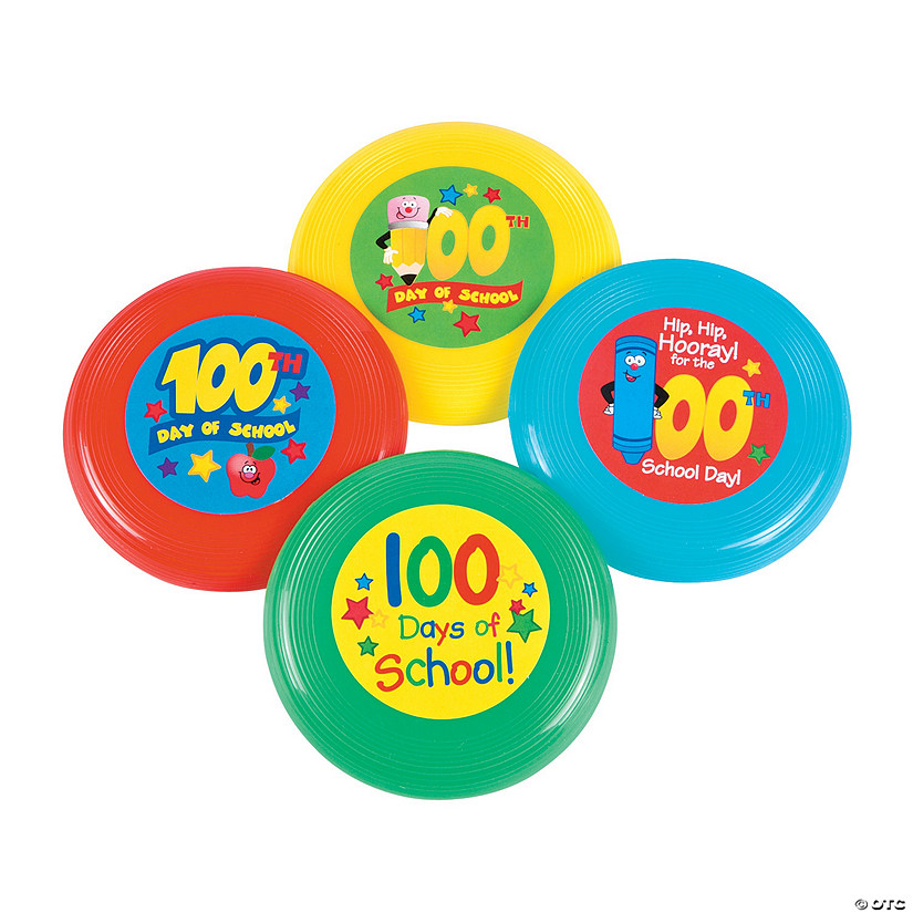 100th Day of School Mini Flying Discs