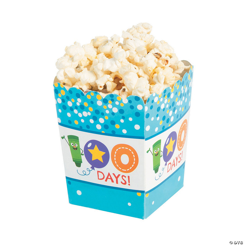 100th Day of School Popcorn Boxes