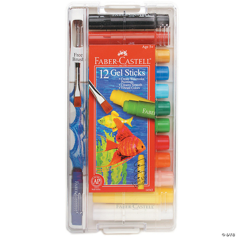 12-Color Faber-Castell Gel Sticks