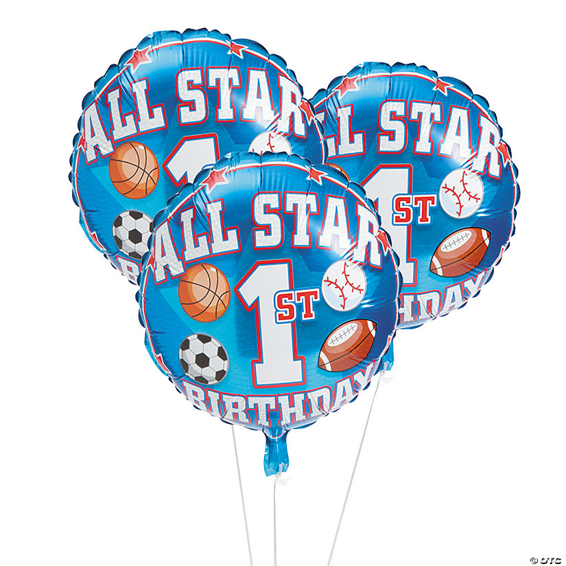 1st Birthday All Star Mylar Balloons