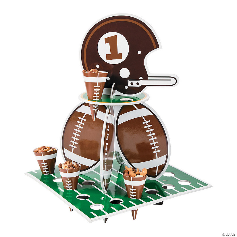 1st Birthday Touchdown Treat Stand with Cones