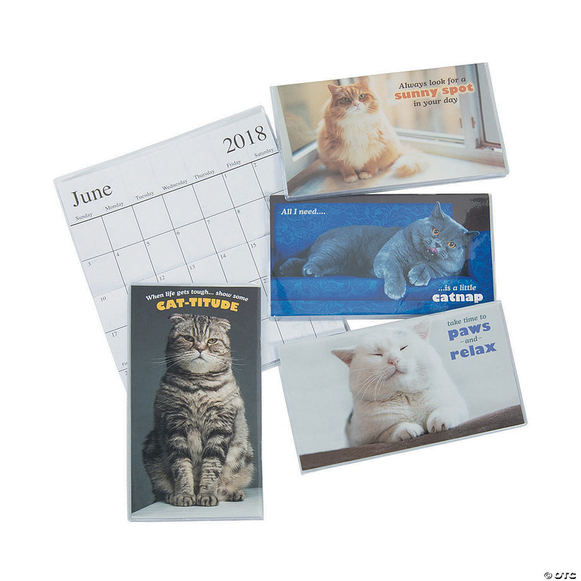 2018-2019 Fat Cat Pocket Calendars
