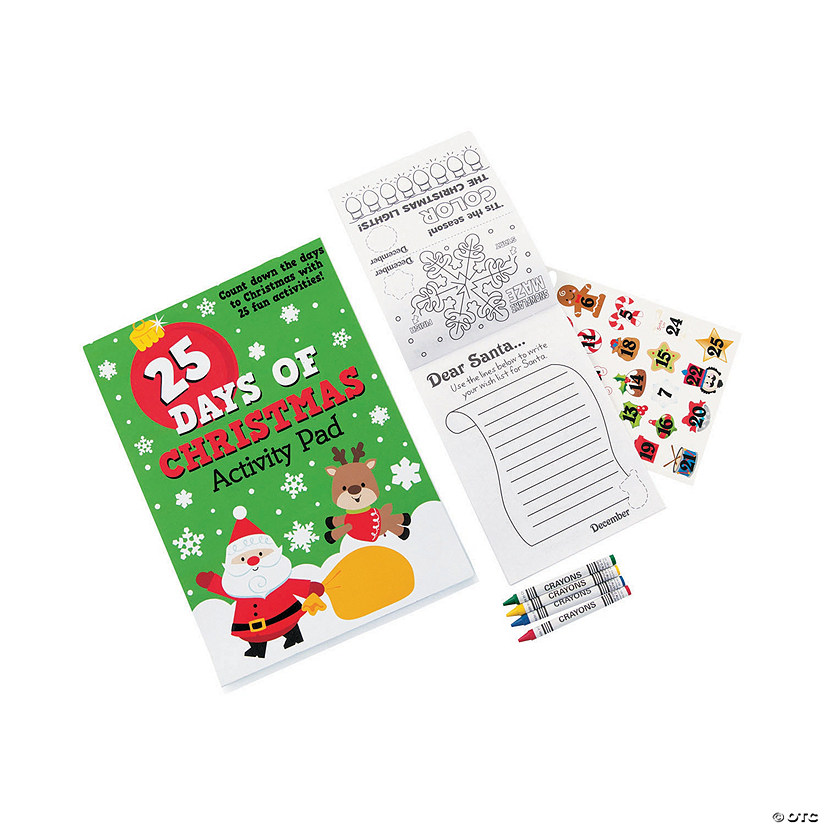 25 Days of Christmas Activity Pads