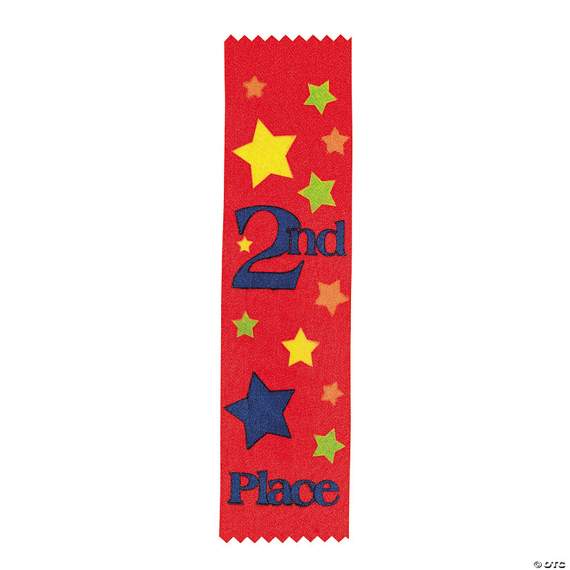 """2nd Place"" Red Award Ribbons"