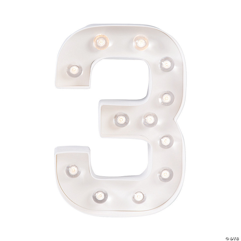 """3"" Marquee Light-Up Kit"